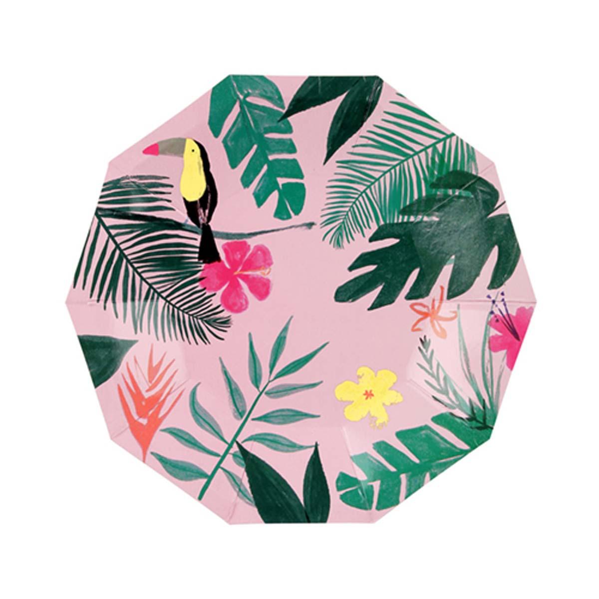 Anniversaire & Fête Petites Assiettes Tropicales - Rose Petites Assiettes Tropicales - Rose