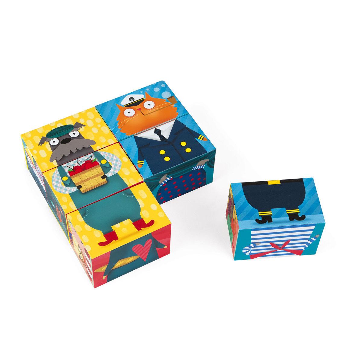 Mes premiers jouets 6 Cubes Mix&Match Chiens et Chats - Kubkid 6 Cubes Mix&Match Chiens et Chats - Kubkid