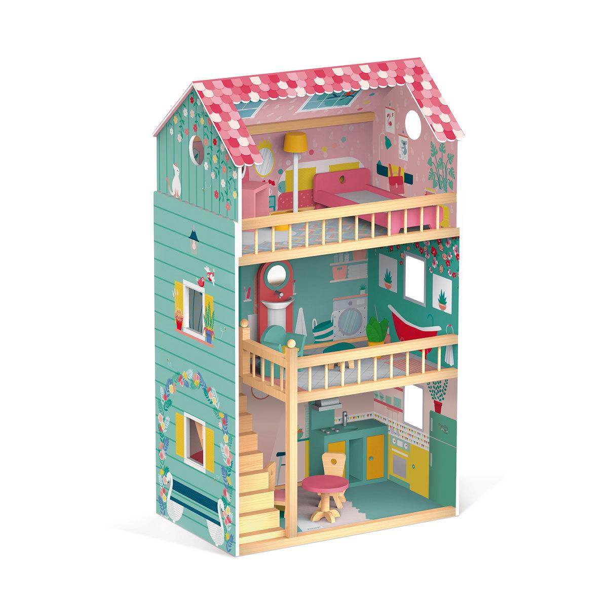 janod maison de poup es happy day mes premiers jouets janod sur l 39 armoire de b b. Black Bedroom Furniture Sets. Home Design Ideas
