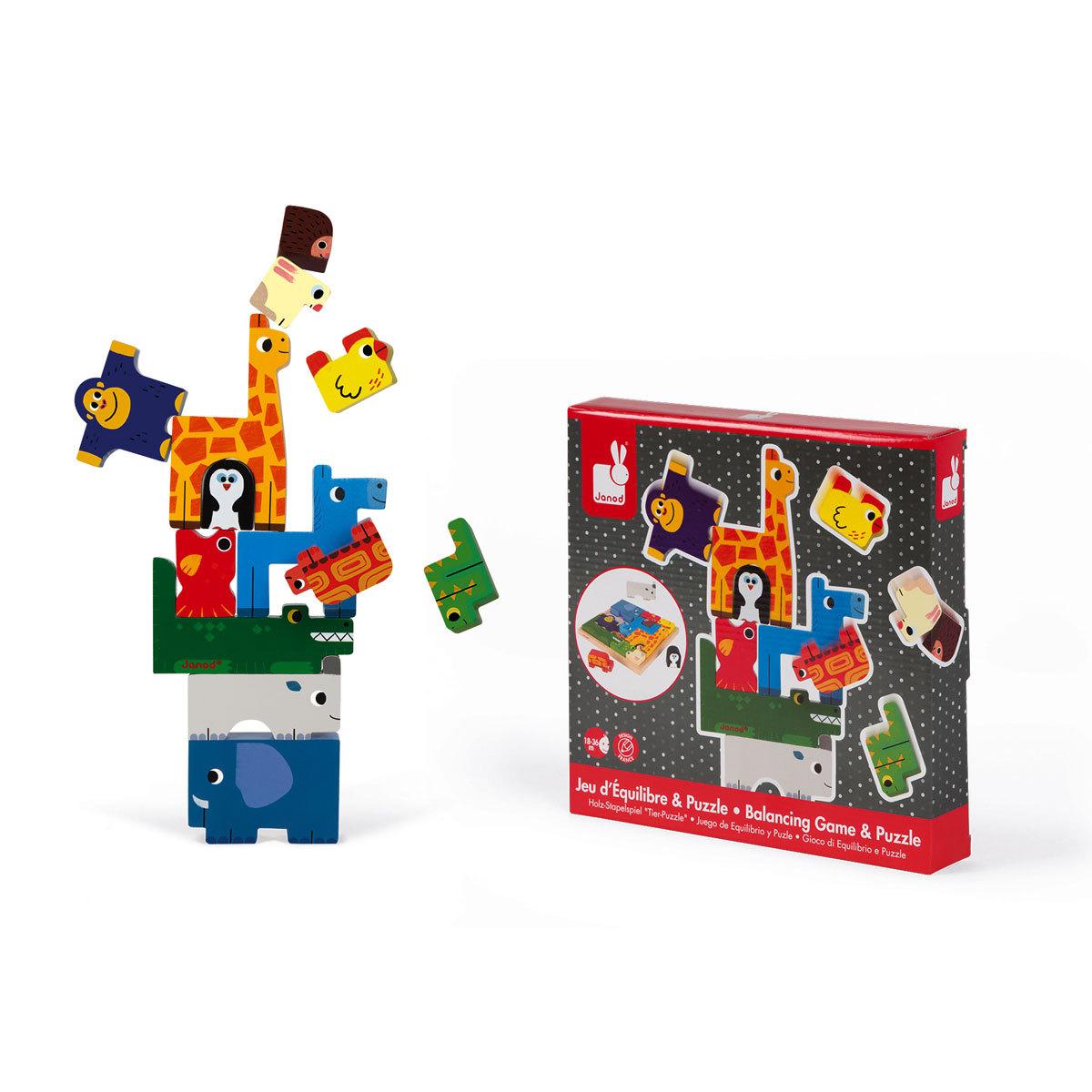 Mes premiers jouets Jeu d'équilibre et Puzzle Animaux Jeu d'équilibre et Puzzle Animaux