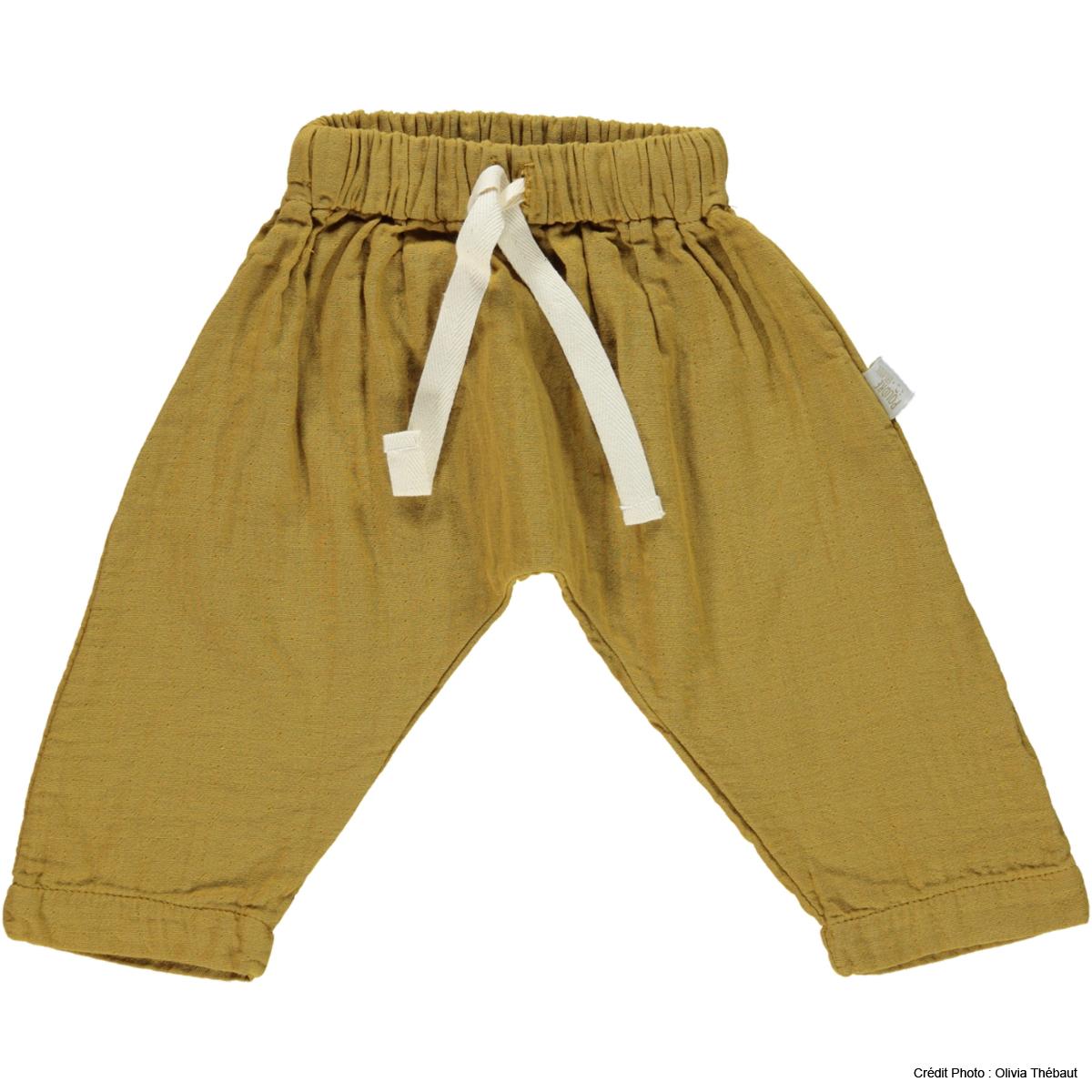 Bas Bébé Pantalon Sauge Cassonade - 9 mois Pantalon Sauge Cassonade - 9 mois