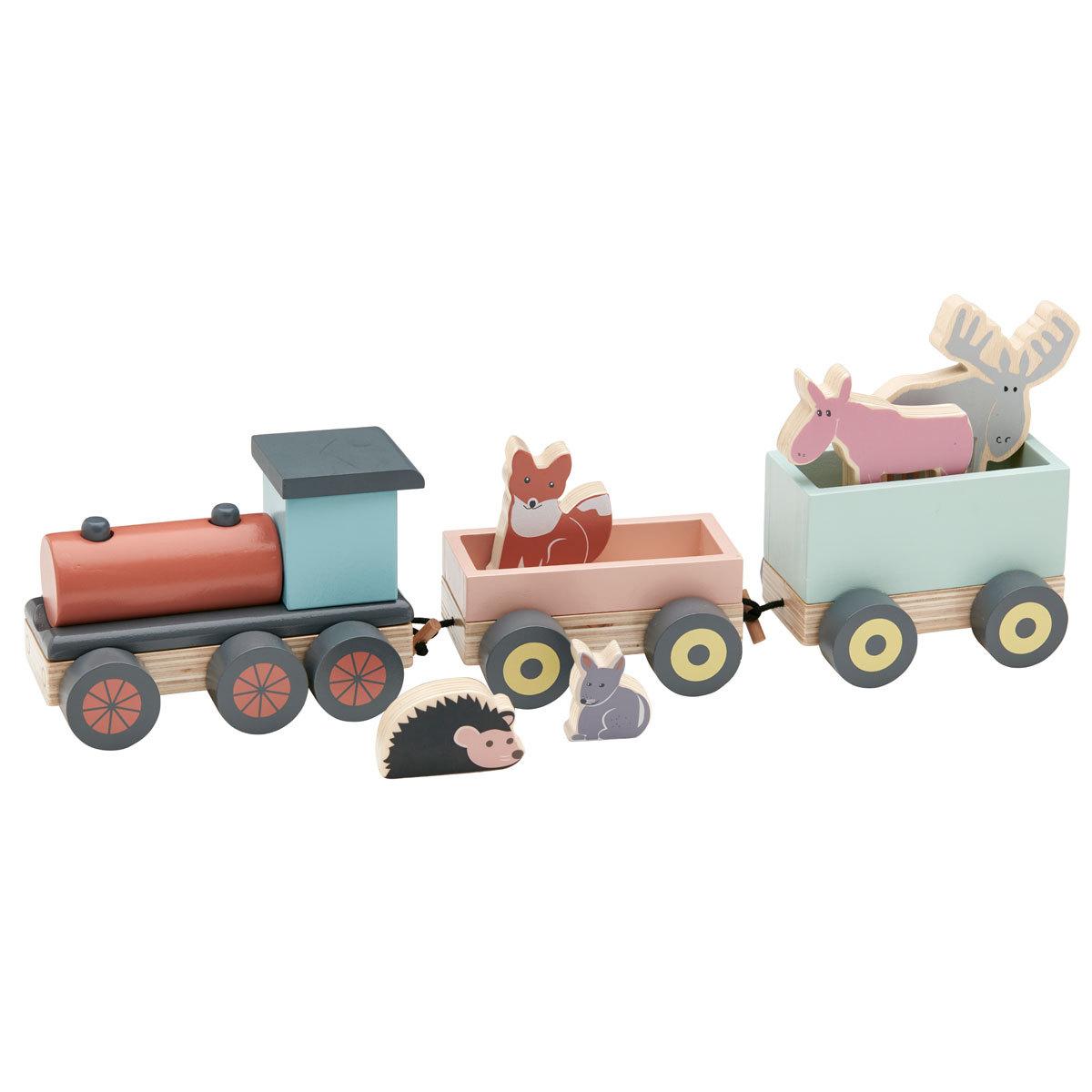 Mes premiers jouets Train en Bois avec Animaux - EDVIN