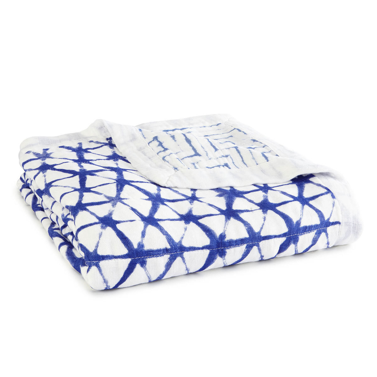 Linge de lit Couverture de Rêve Silky Soft - Indigo Shibori Couverture de Rêve Silky Soft - Indigo Shibori