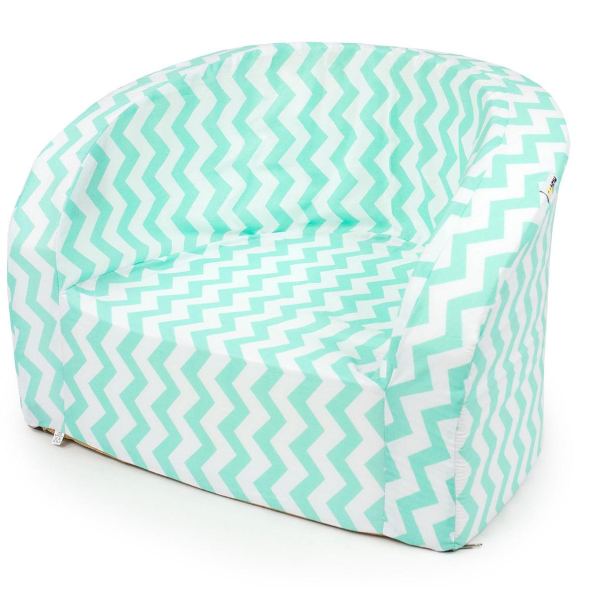 misioo fauteuil club blanc et zigzag vert d 39 eau. Black Bedroom Furniture Sets. Home Design Ideas