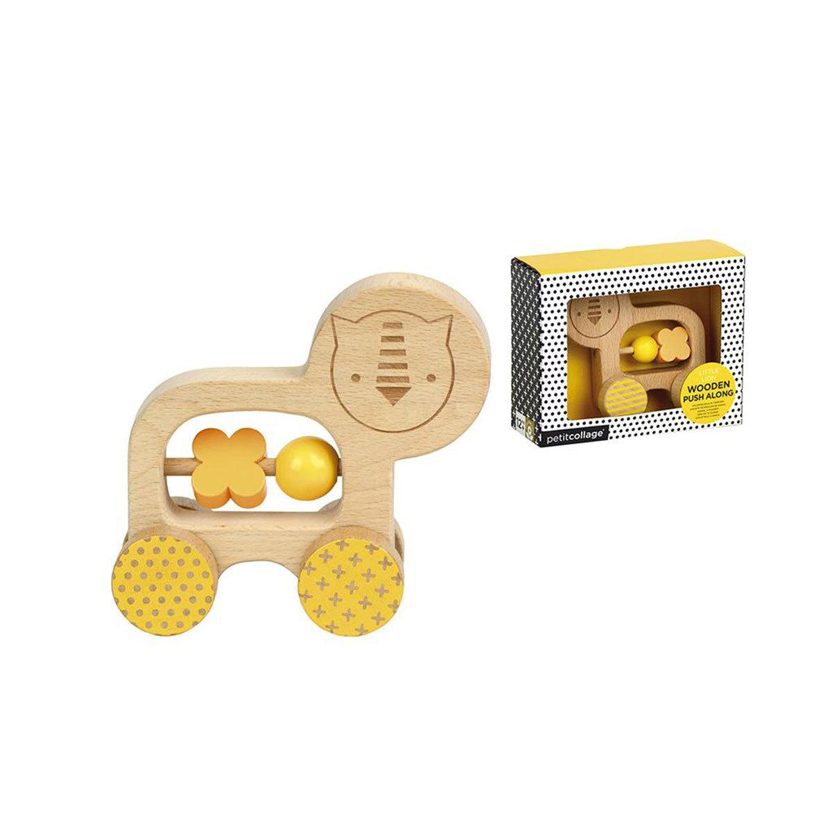 Mes premiers jouets Animal à Pousser en Bois - Lion Animal à Pousser en Bois - Lion