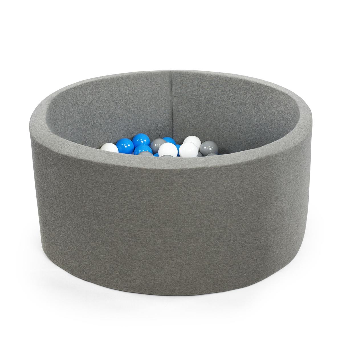 Misioo piscine balles ronde grise 90 cm balle abbg for Piscine a boule en mousse