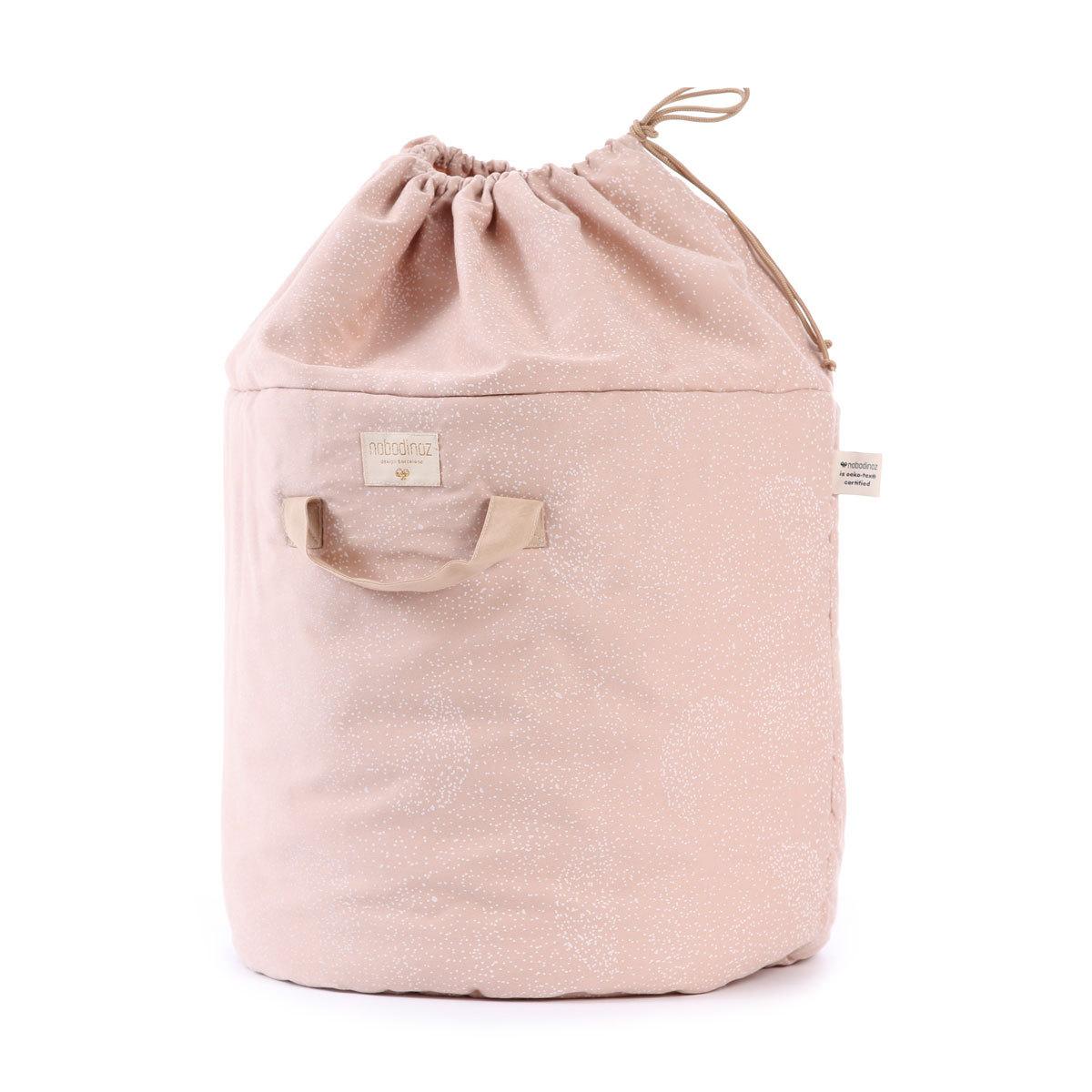 Rangement jouet Sac à Jouets Bamboo - White Bubble & Misty Pink Sac à Jouets Bamboo - White Bubble & Misty Pink