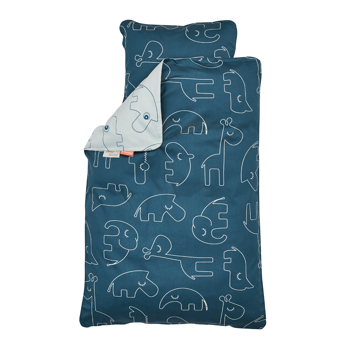 linge de lit sleepy Done by Deer Parure de Lit Junior Sleepy   Bleu   Linge de lit  linge de lit sleepy