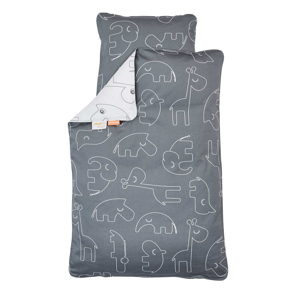 linge de lit sleepy Done by Deer Parure de Lit Junior Sleepy   Gris   Linge de lit  linge de lit sleepy