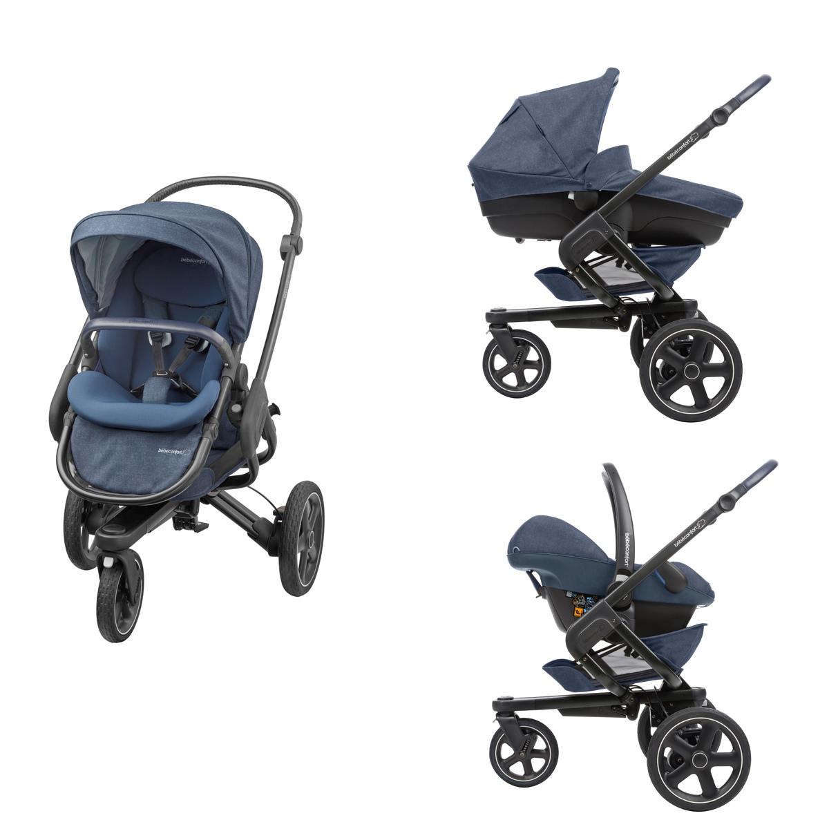 b b confort poussette de naissance nova 3 roues nomad blue poussette citadine b b confort. Black Bedroom Furniture Sets. Home Design Ideas