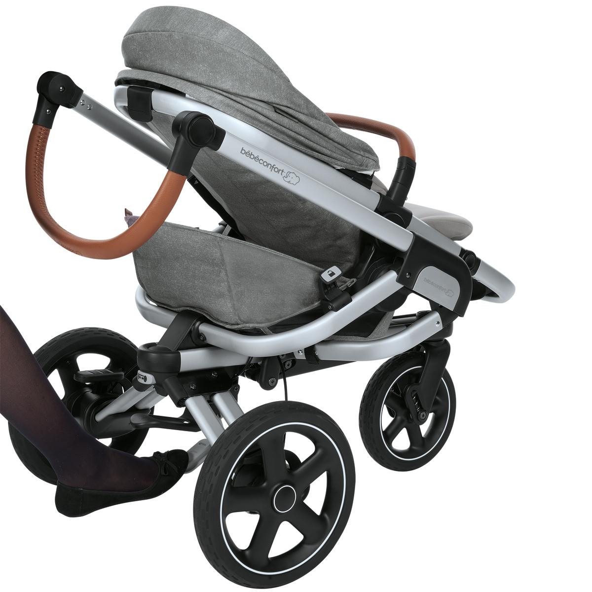 b b confort poussette de naissance nova 3 roues nomad grey poussette citadine b b confort. Black Bedroom Furniture Sets. Home Design Ideas