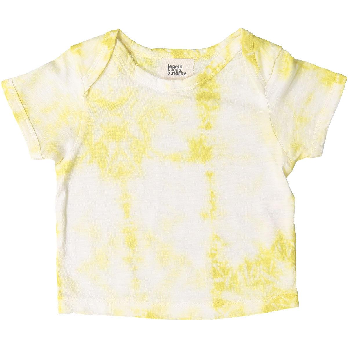 Hauts bébé T-Shirt Vadim - Tie & Dye Yellow Shibori - 3/6 Mois T-Shirt Vadim - Tie & Dye Yellow Shibori - 3/6 Mois