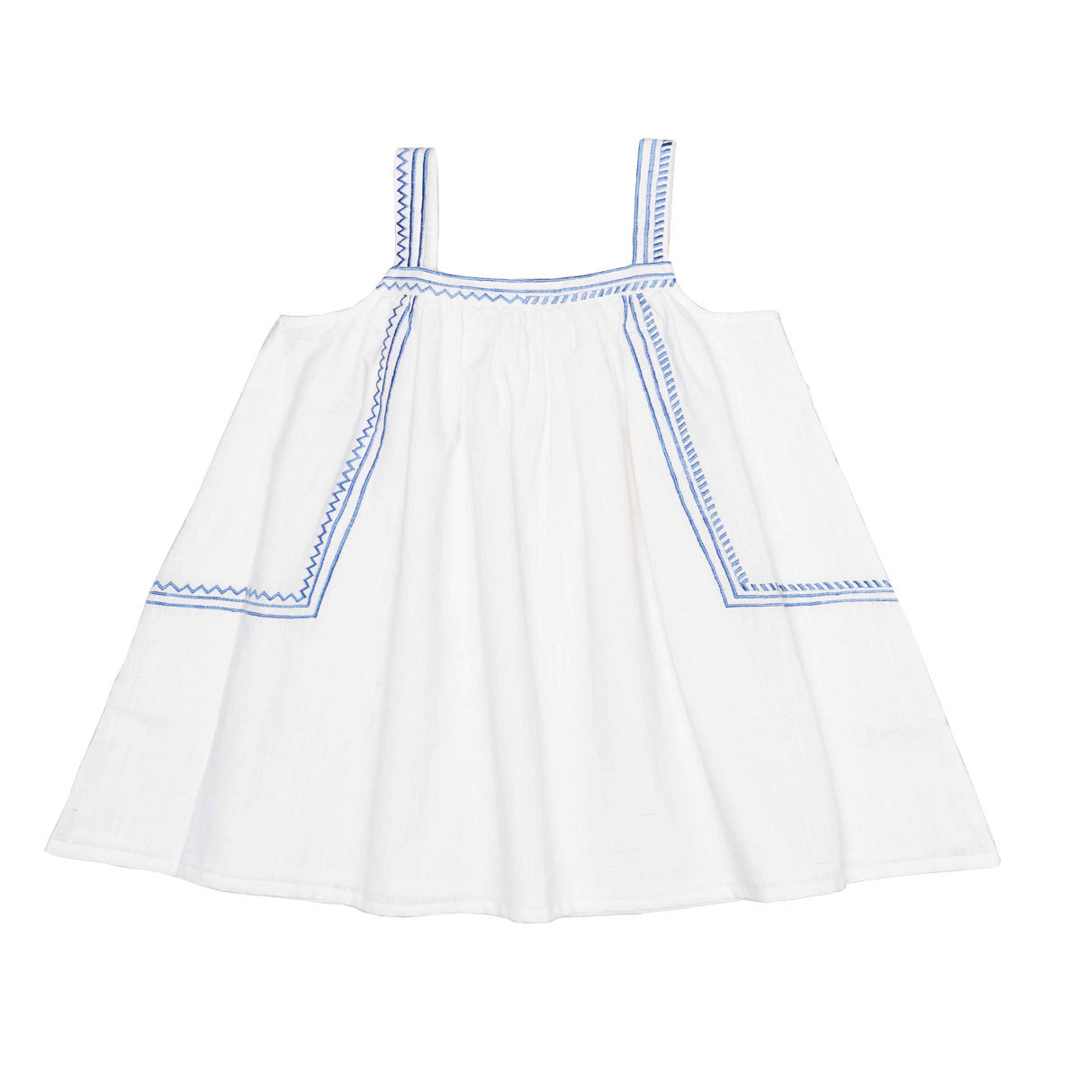 Hauts bébé Top Leo - Blue Embroidery - 2 Ans Top Leo - Blue Embroidery - 2 Ans