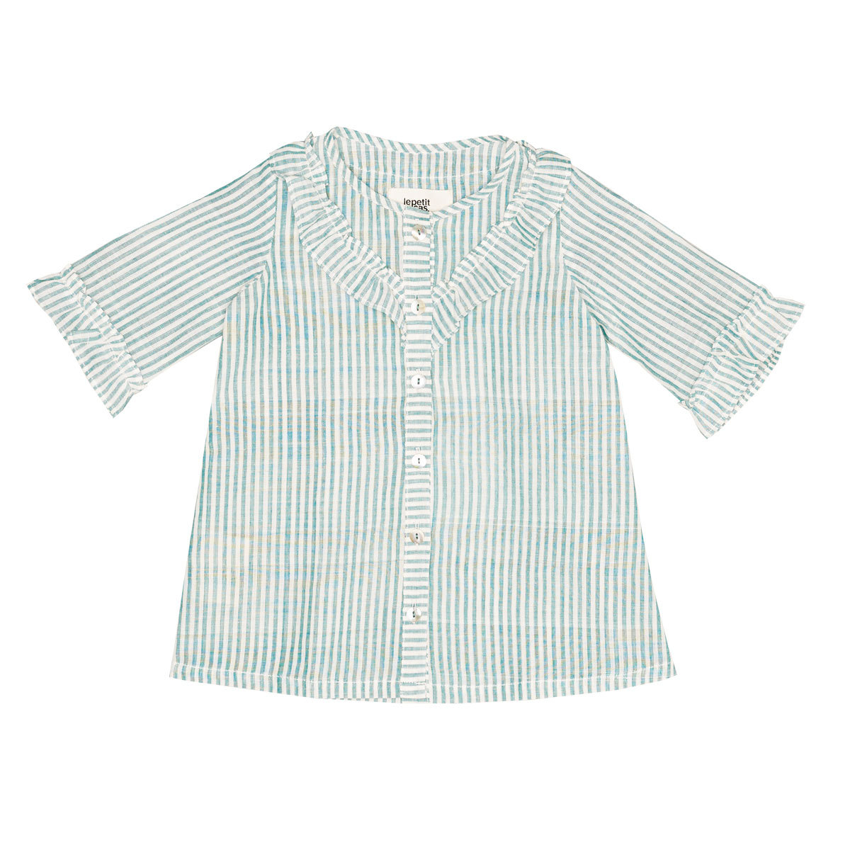 Hauts bébé Top Vanessa - Green Stripes - 2 Ans Top Vanessa - Green Stripes - 2 Ans