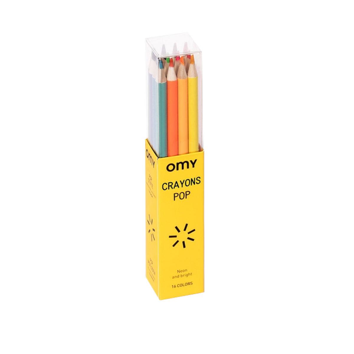 Livre & Carte Boite de 16 Crayons de Couleurs Pop