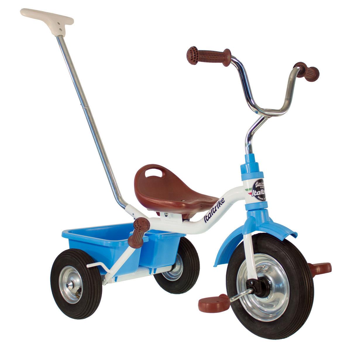Trotteur & Porteur Tricycle Racing Monaco - Blanc/Bleu Tricycle Racing Monaco - Blanc/Bleu