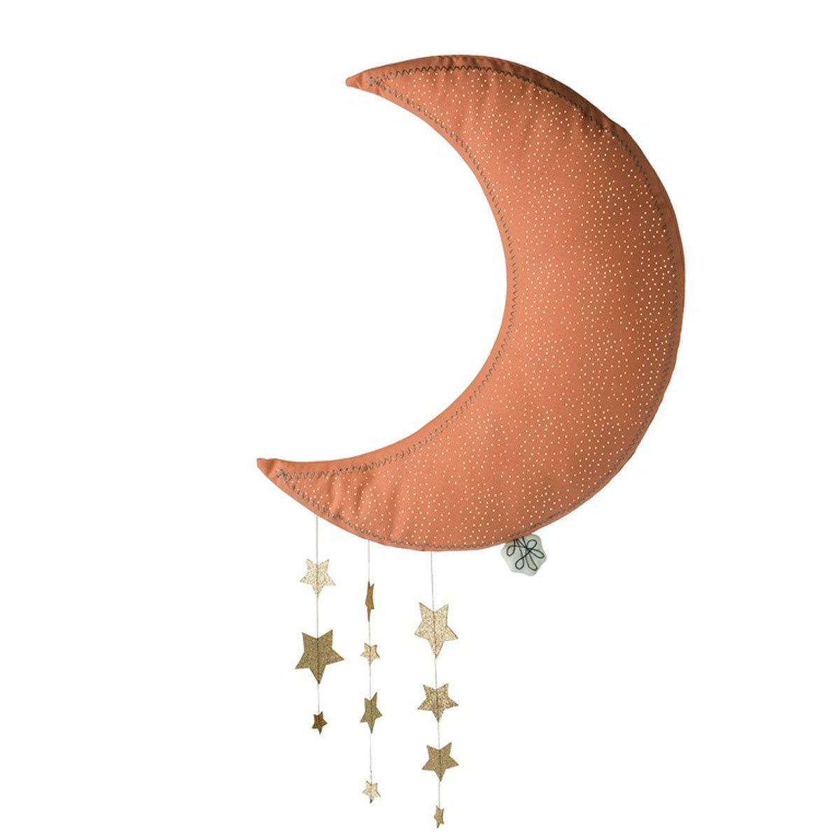 Objet décoration Lune avec Etoiles - Rose Lune avec Etoiles - Rose