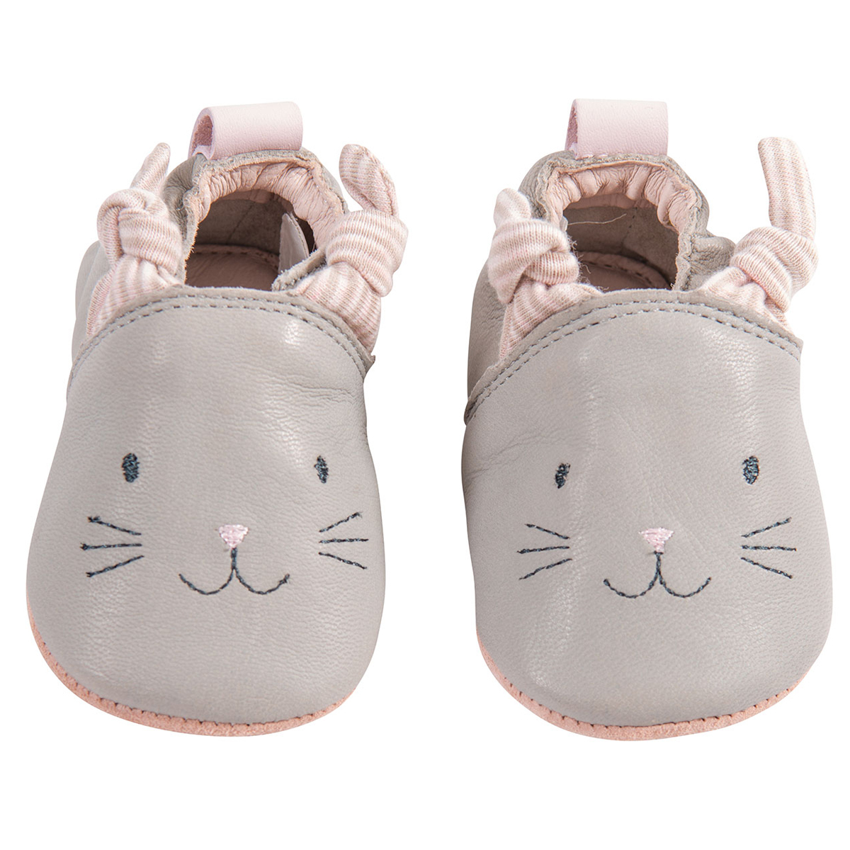 Chaussons & Chaussures Chaussons Cuir Gris Les Petits Dodos - 20/21
