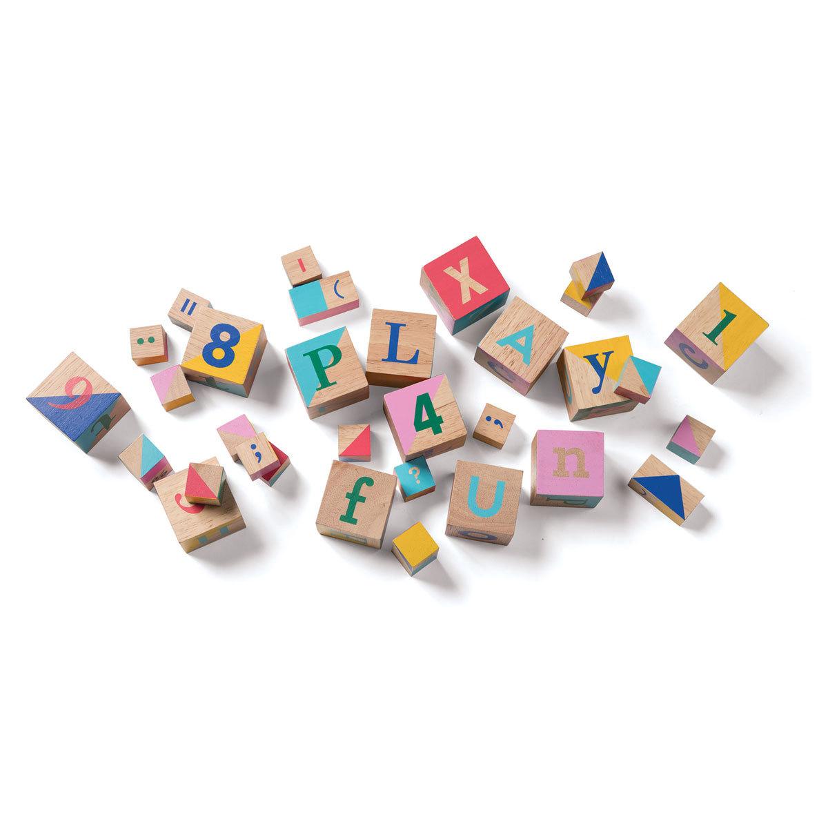 Mes premiers jouets Cubes en Bois - 33 Pièces Cubes en Bois - 33 Pièces