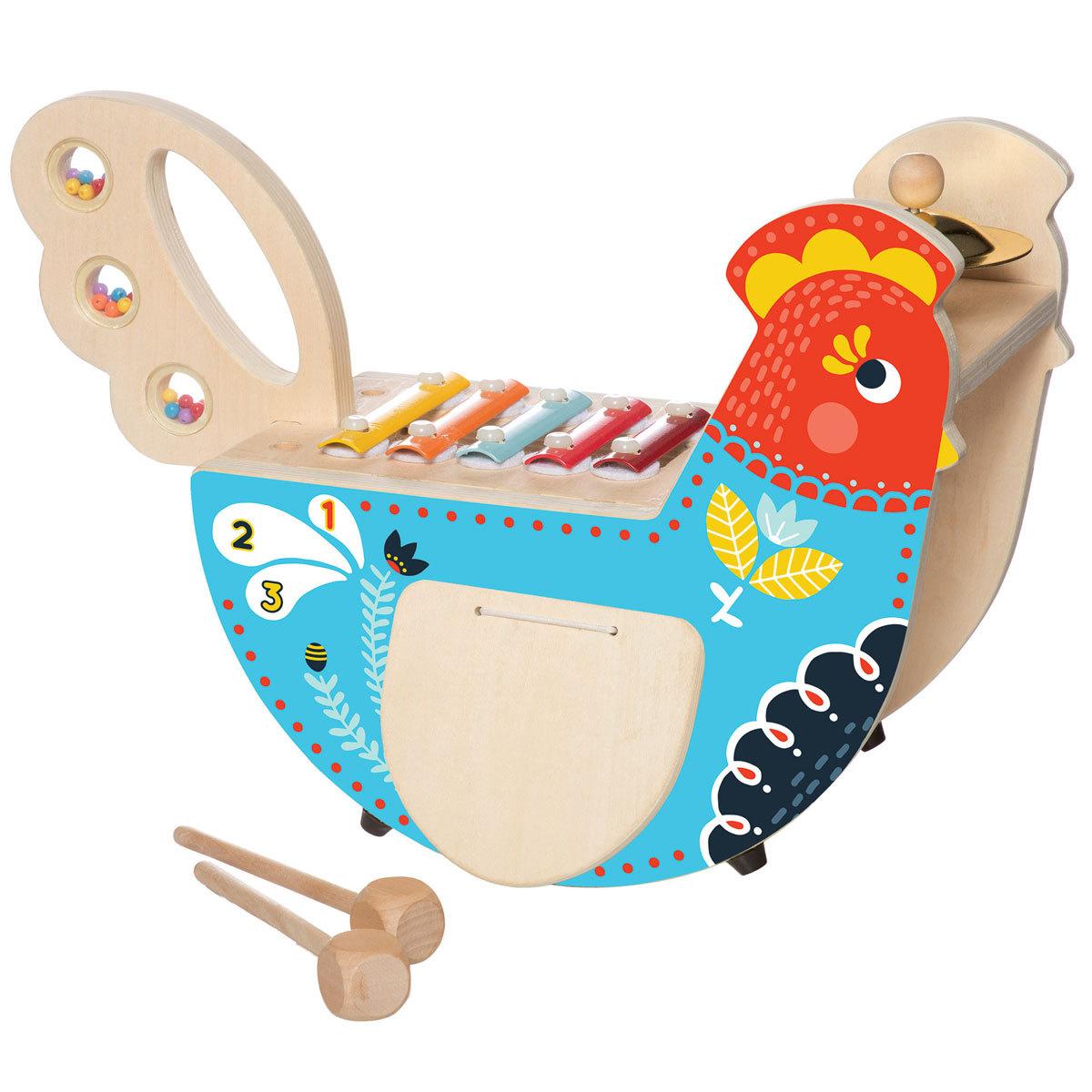 Mes premiers jouets Poule Musicale en Bois Poule Musicale en Bois