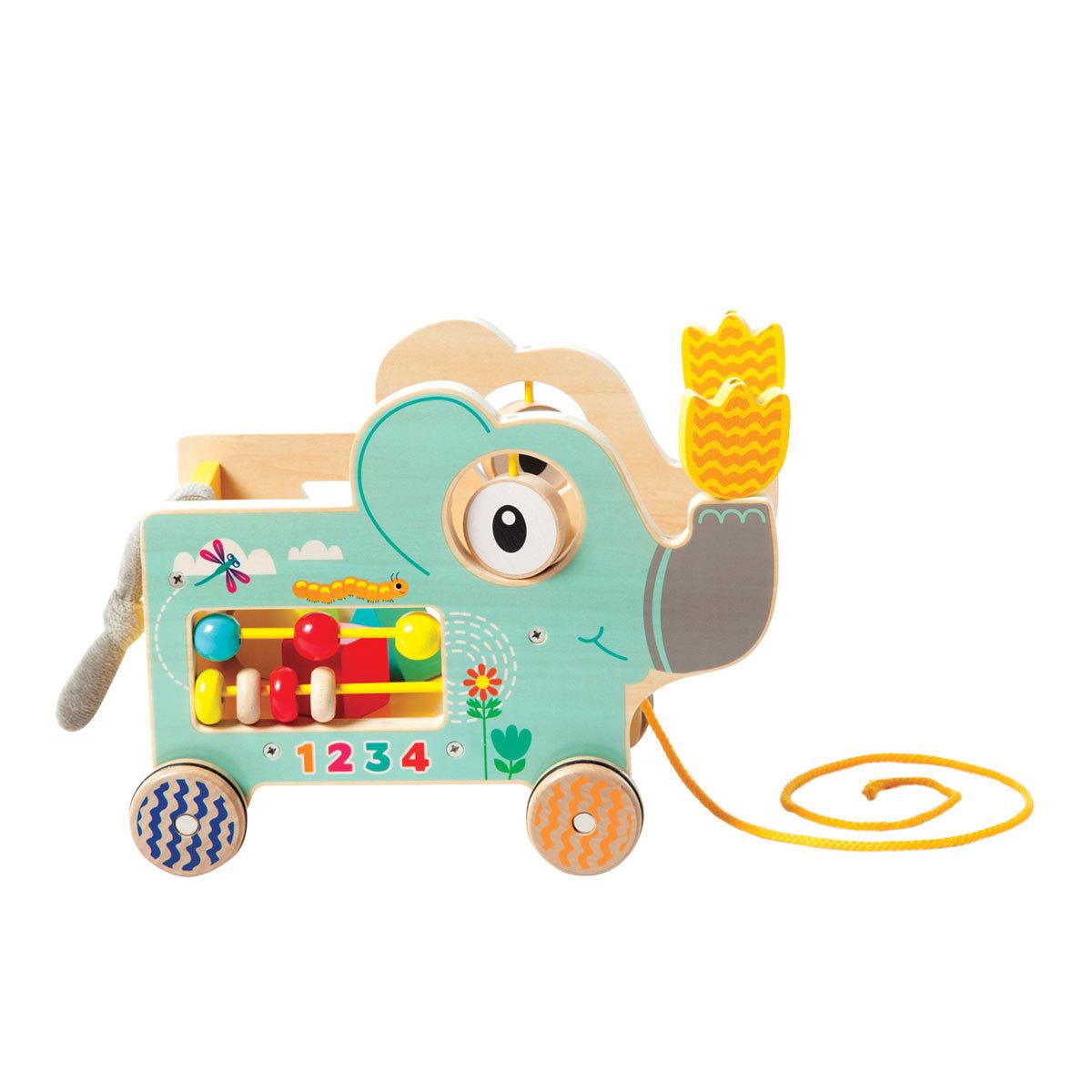 Mes premiers jouets Eléphant à Tirer & Aire d'Activités - Vert Eléphant à Tirer & Aire d'Activités - Vert