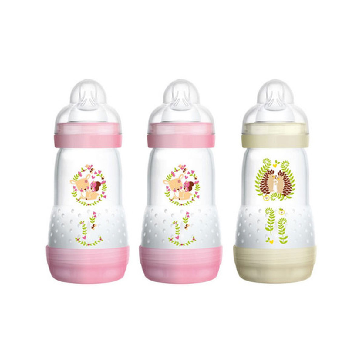 Biberon Lot de 3 Biberons Anti-colique Easy Start Rose et Marron - 260 ml Lot de 3 Biberons Anti-colique Easy Start Rose et Marron - 260 ml