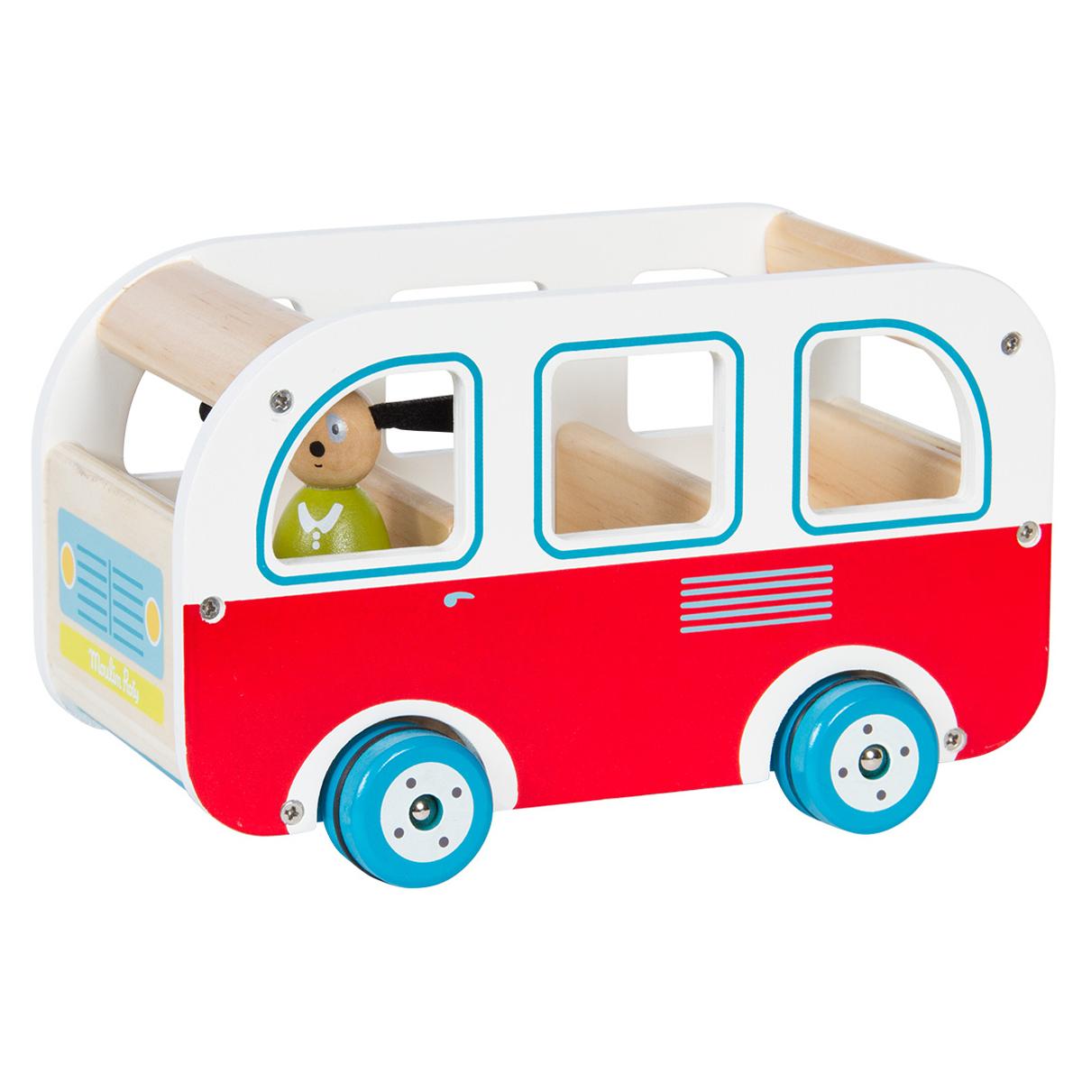 """Mes premiers jouets Bus en Bois """"La Grande Famille"""""""