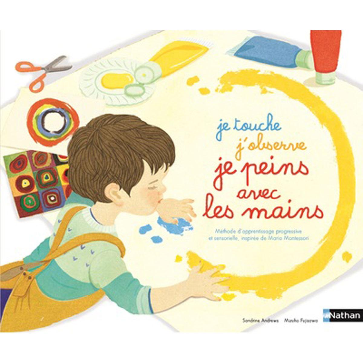 Livre & Carte Je touche, j'observe, je peins avec les mains