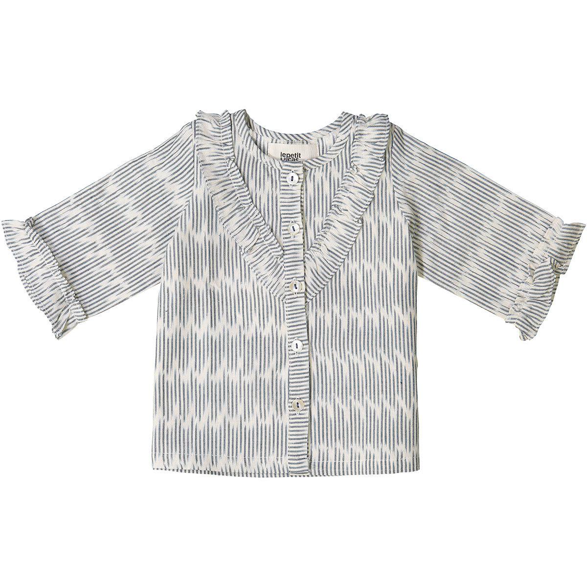 Hauts bébé Top Vanessa - Blue Cloud Ikat - 12/18 Mois Top Vanessa - Blue Cloud Ikat - 12/18 Mois