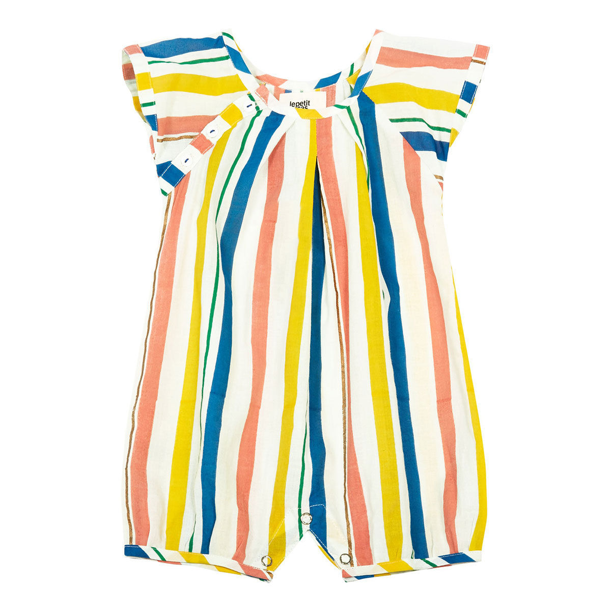 Robe & Combinaison Barboteuse Leopold - Multico Stripes - 6/9 Mois Barboteuse Leopold - Multico Stripes - 6/9 Mois