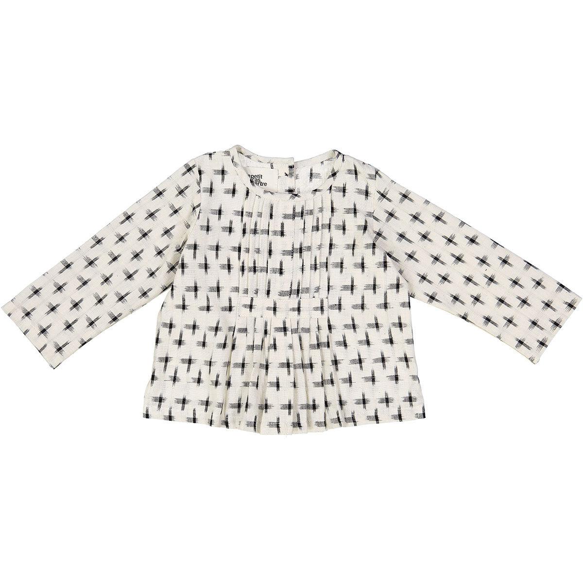 Hauts bébé Top Kush - Grey Checks Ikat - 3/6 Mois Top Kush - Grey Checks Ikat - 3/6 Mois