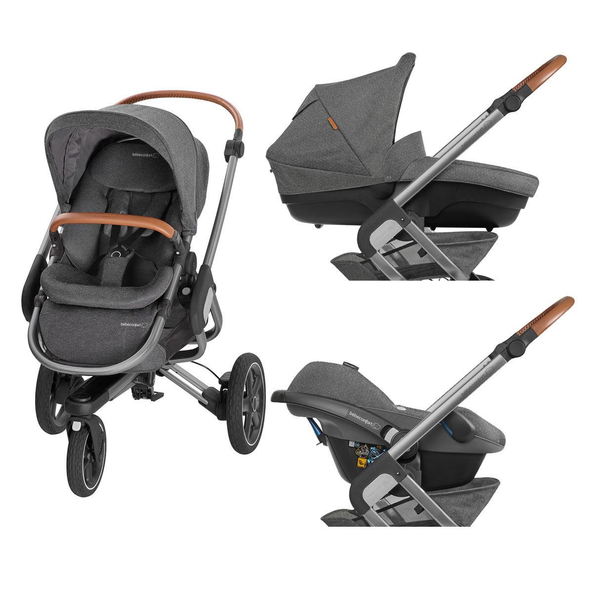 b b confort poussette de naissance nova 3 roues sparkling grey poussette citadine b b. Black Bedroom Furniture Sets. Home Design Ideas