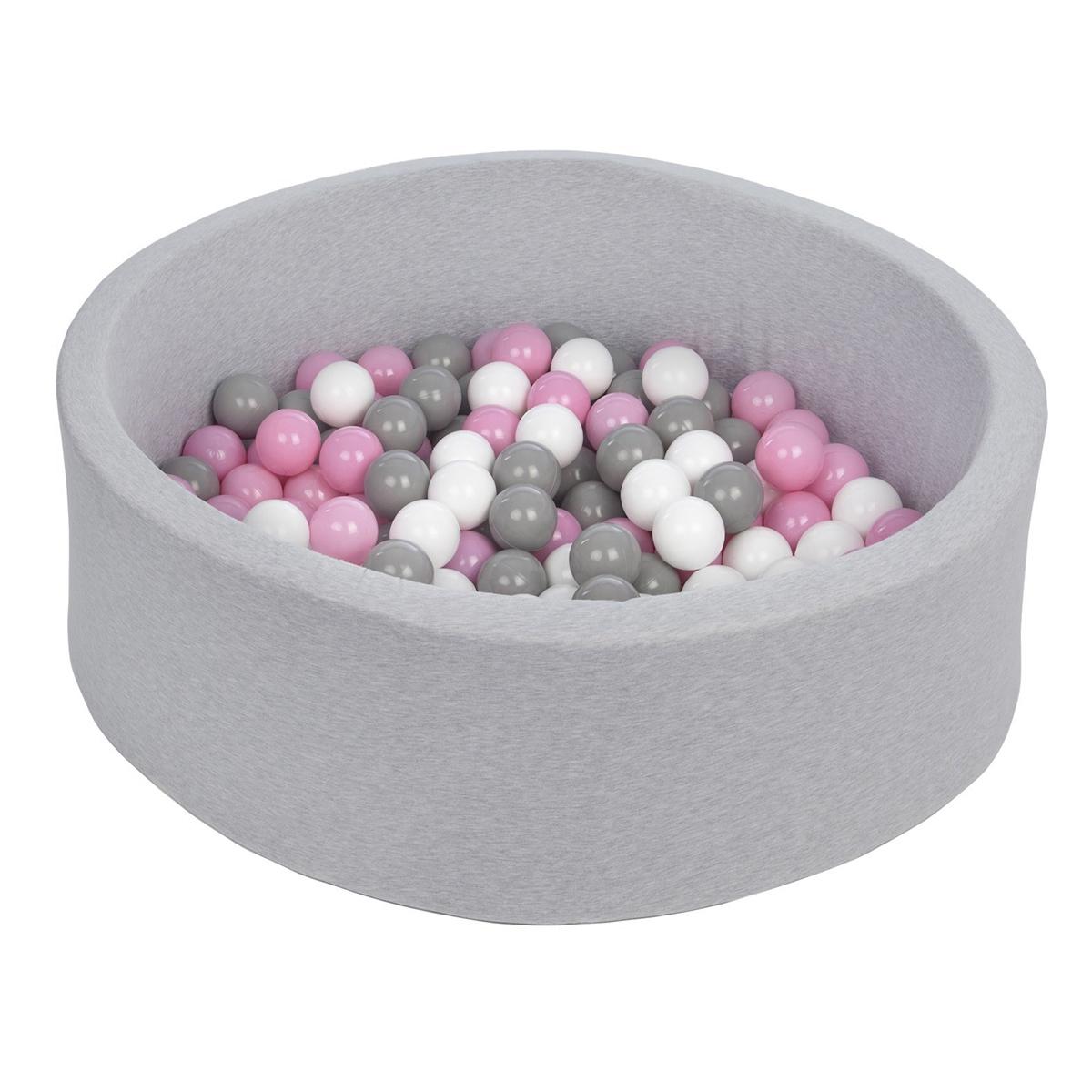 Mes premiers jouets Piscine à Balles Ronde Grise 115 cm + Balles RAP Piscine à Balles Ronde Grise 115 cm + Balles RAP