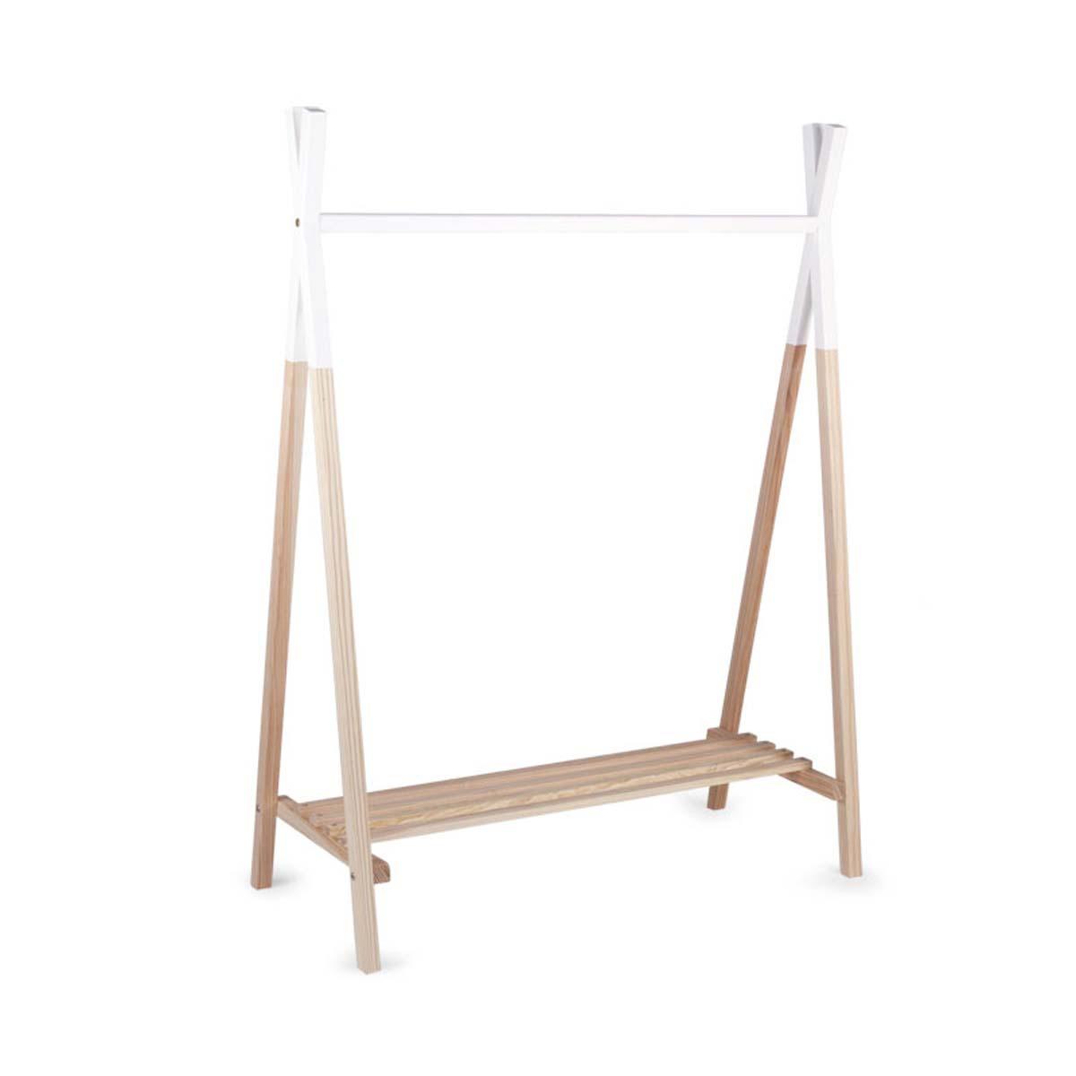 childhome porte manteau tipi bois et blanc porte. Black Bedroom Furniture Sets. Home Design Ideas