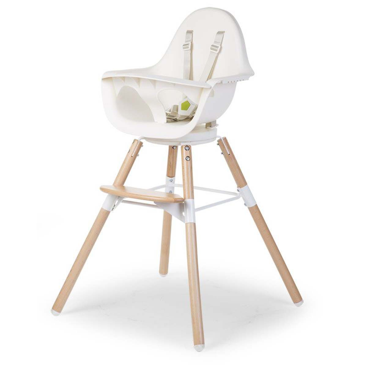 Childwood Chaise Haute Evolu One 80 Pieds Bois Blanc Chaise