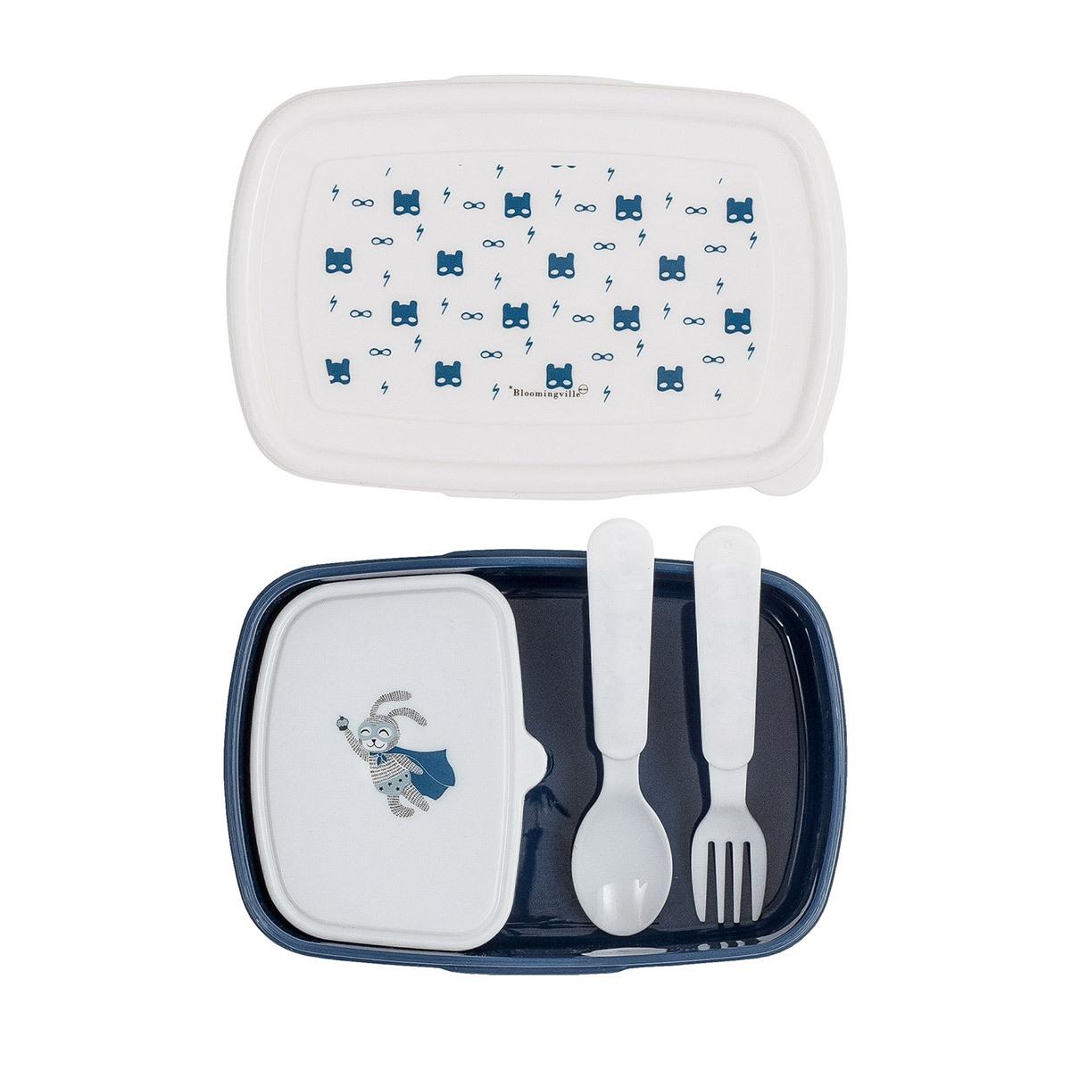 Vaisselle & Couvert Lunch Box Super Héro 4 Pièces Bleue Lunch Box Super Héro 4 Pièces Bleue
