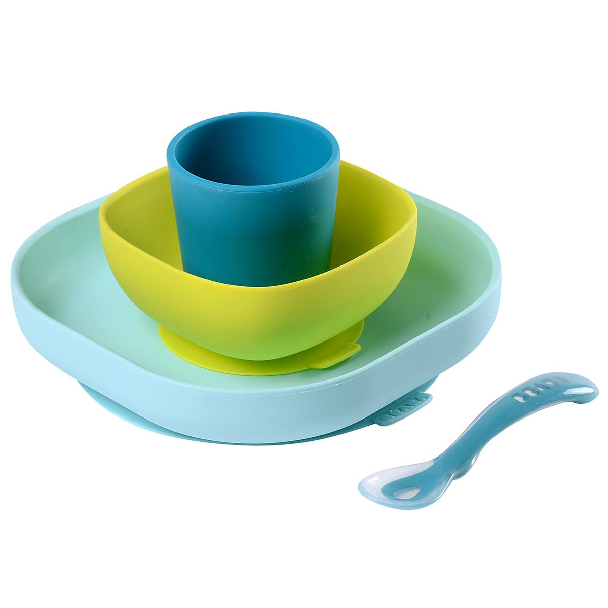Coffret repas Set de Vaisselle 4 Pièces - Blue Set de Vaisselle 4 Pièces - Blue