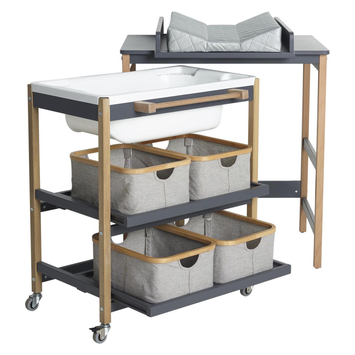 quax meuble de bain smart confort moonshadow et naturel table langer quax sur l 39 armoire de. Black Bedroom Furniture Sets. Home Design Ideas