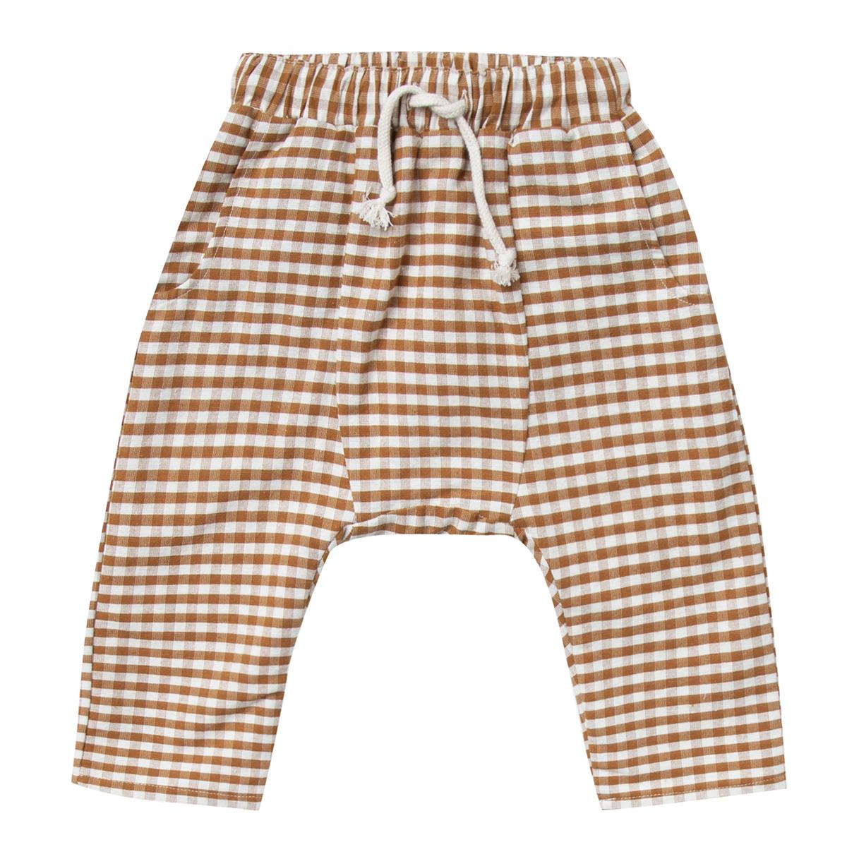 Bas Bébé Pantalon Vichy Ivoire - 6/12 Mois Pantalon Vichy Ivoire - 6/12 Mois