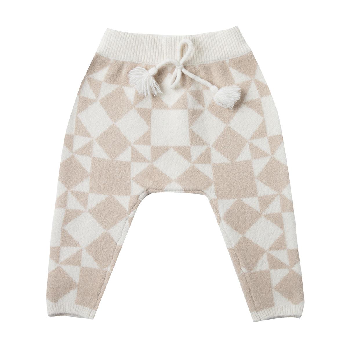 Bas Bébé Pantalon Patchwork Jacquard Ivoire - 3/6 Mois Pantalon Patchwork Jacquard Ivoire - 3/6 Mois