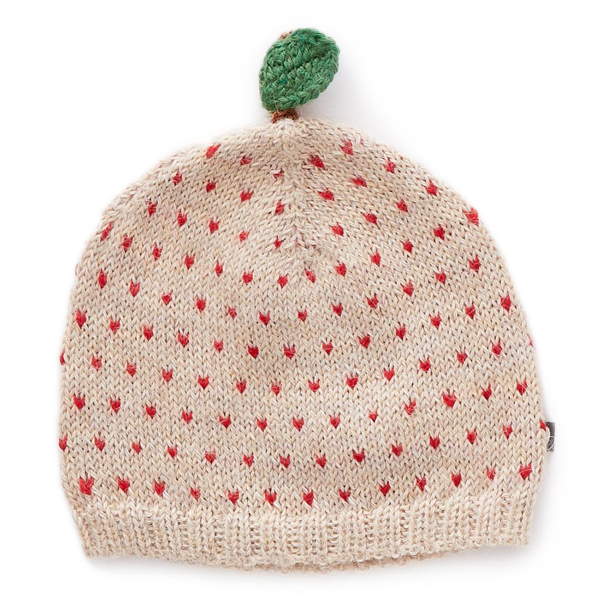 Accessoires Bébé Bonnet Pomme à Pois Rouges Beige - 6/12 Mois Bonnet Pomme à Pois Rouges Beige - 6/12 Mois