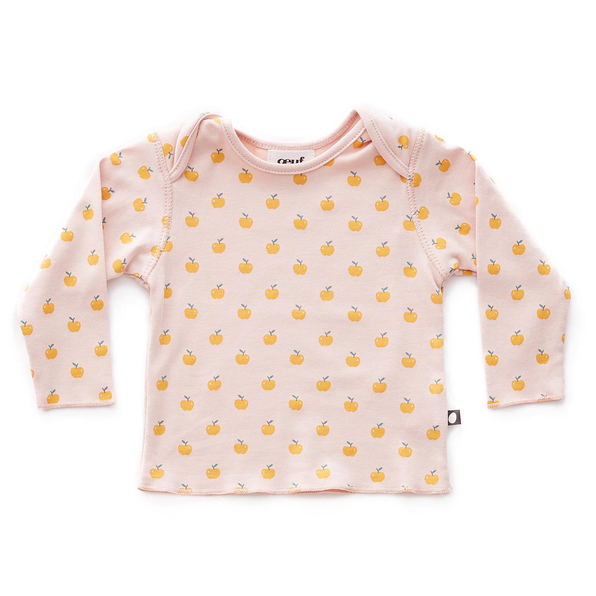 Hauts bébé Tee-shirt Pommes Rose - 6 Mois Tee-shirt Pommes Rose - 6 Mois