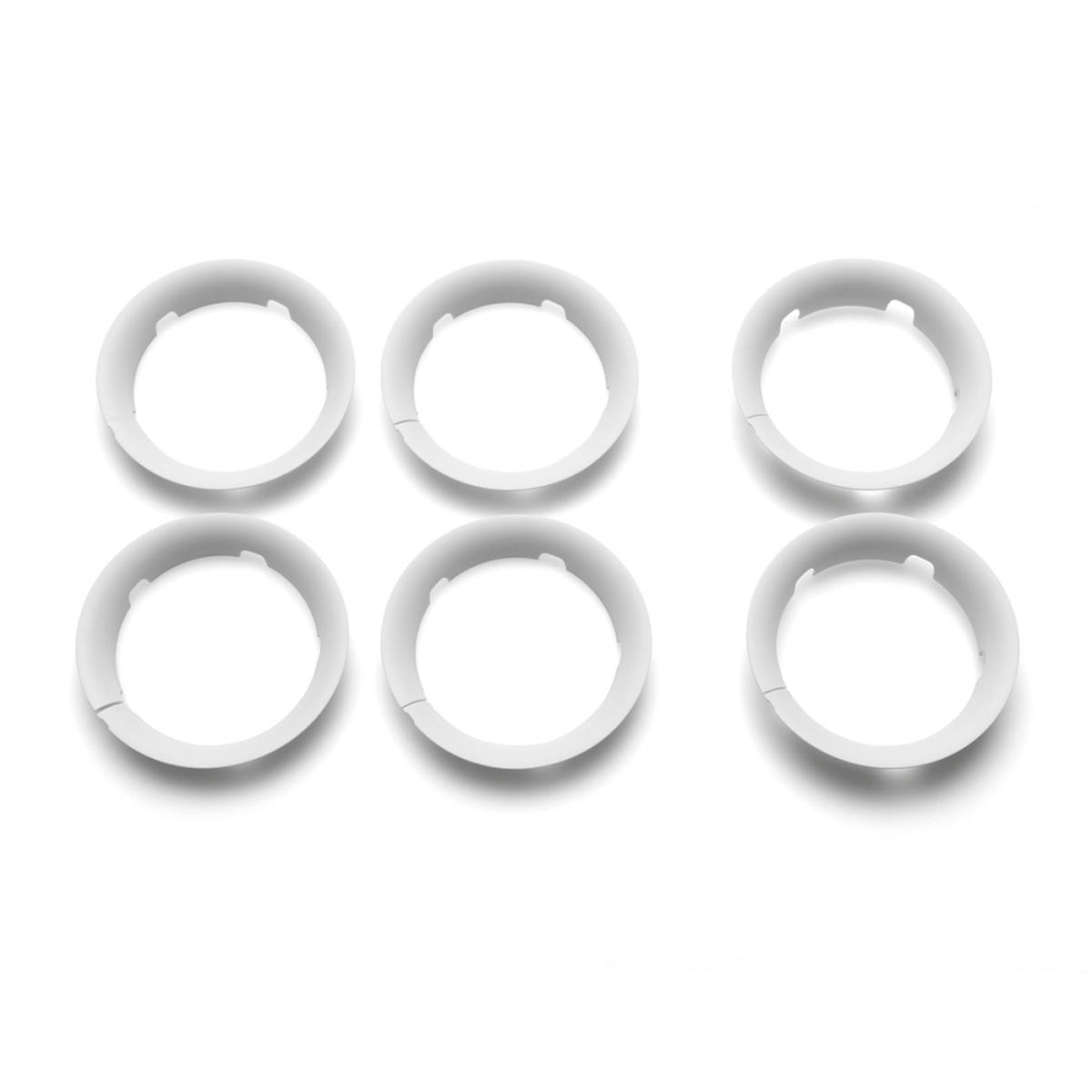 Accessoires poussette Lot de 6 Enjoliveurs Bee5 - Blanc