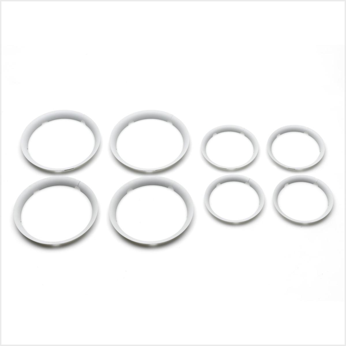 Accessoires poussette Lot de 8 Enjoliveurs Fox - Blanc