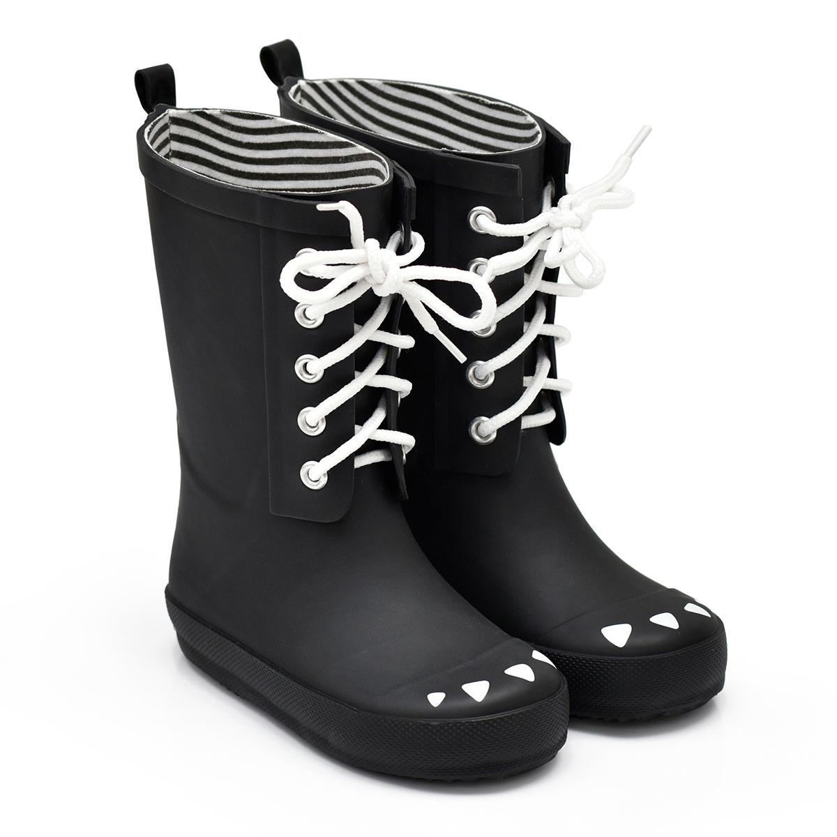 Chaussons & Chaussures Bottes Kerran Noir - 27 Bottes Kerran Noir - 27