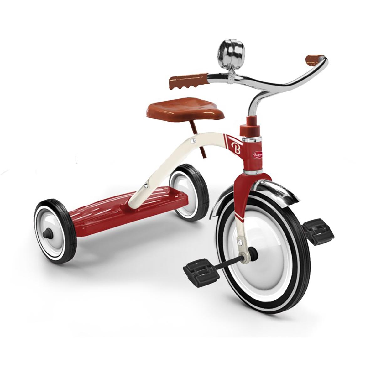 Trotteur & Porteur Tricycle Vintage Rouge