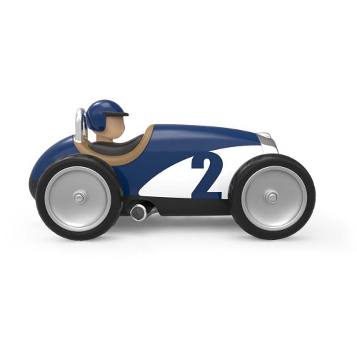 Voiture Bleu Racing Car Métal En 2EID9H