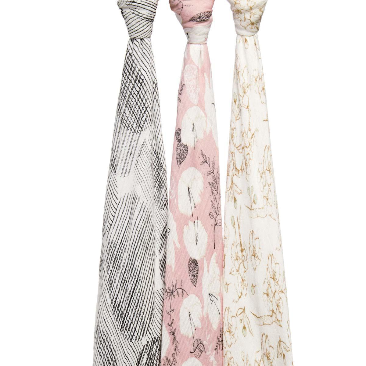 Lange Coffret de 3 Maxi-Langes Silky Soft - Pretty Petals Coffret de 3 Maxi-Langes Silky Soft - Pretty Petals