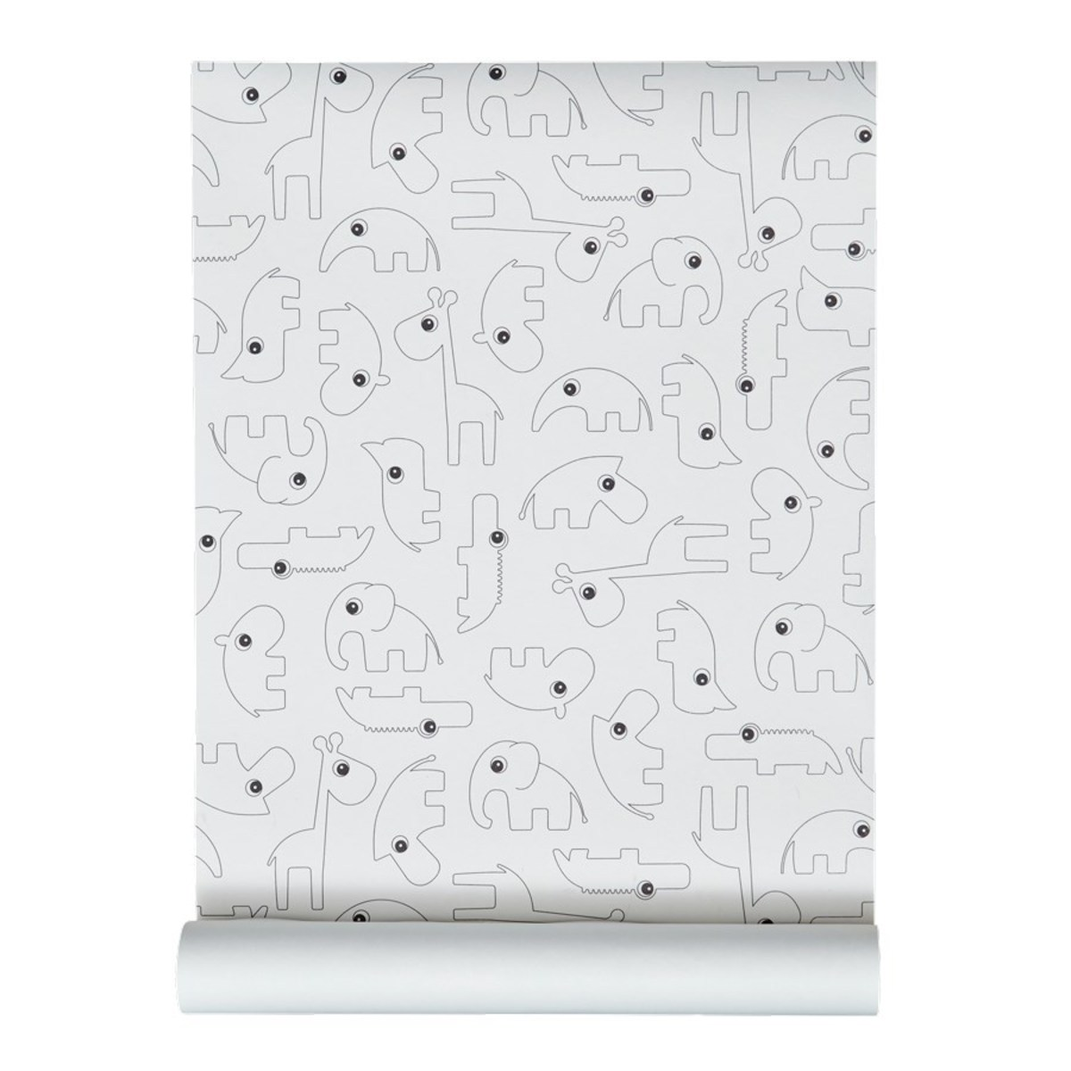 Papier peint Papier Peint Contour - Noir Papier Peint Contour - Noir