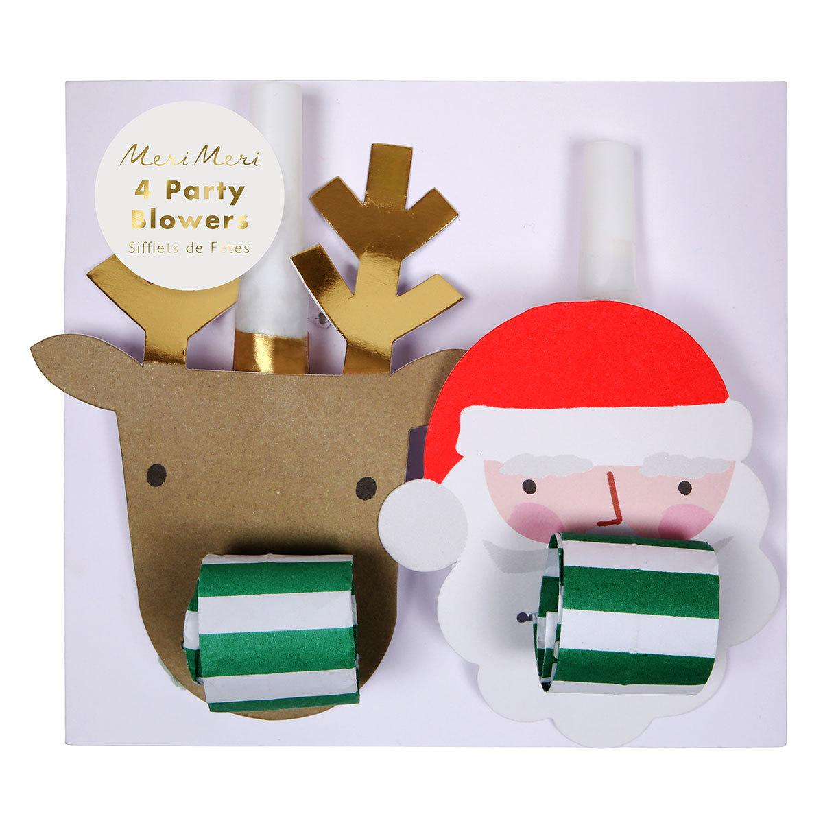 Anniversaire & Fête 4 Sifflets de Fête - Père Noël / Renne 4 Sifflets de Fête - Père Noël / Renne